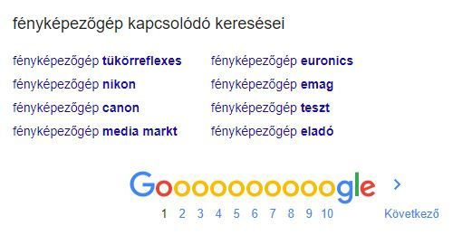 google alsó lista