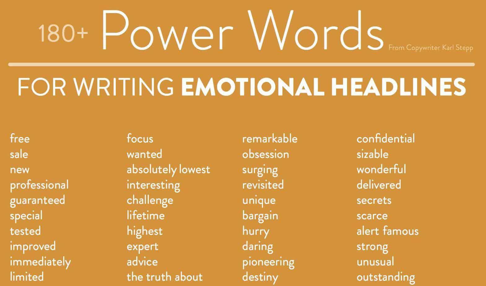 érzelemre ható szavak a cikk címében