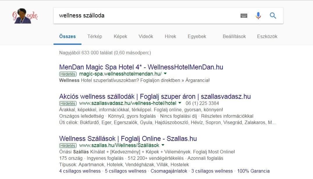 AdRank - wellness szálloda