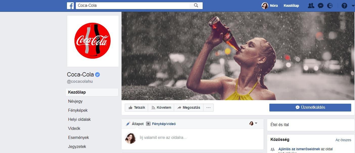 coca cola facebook page