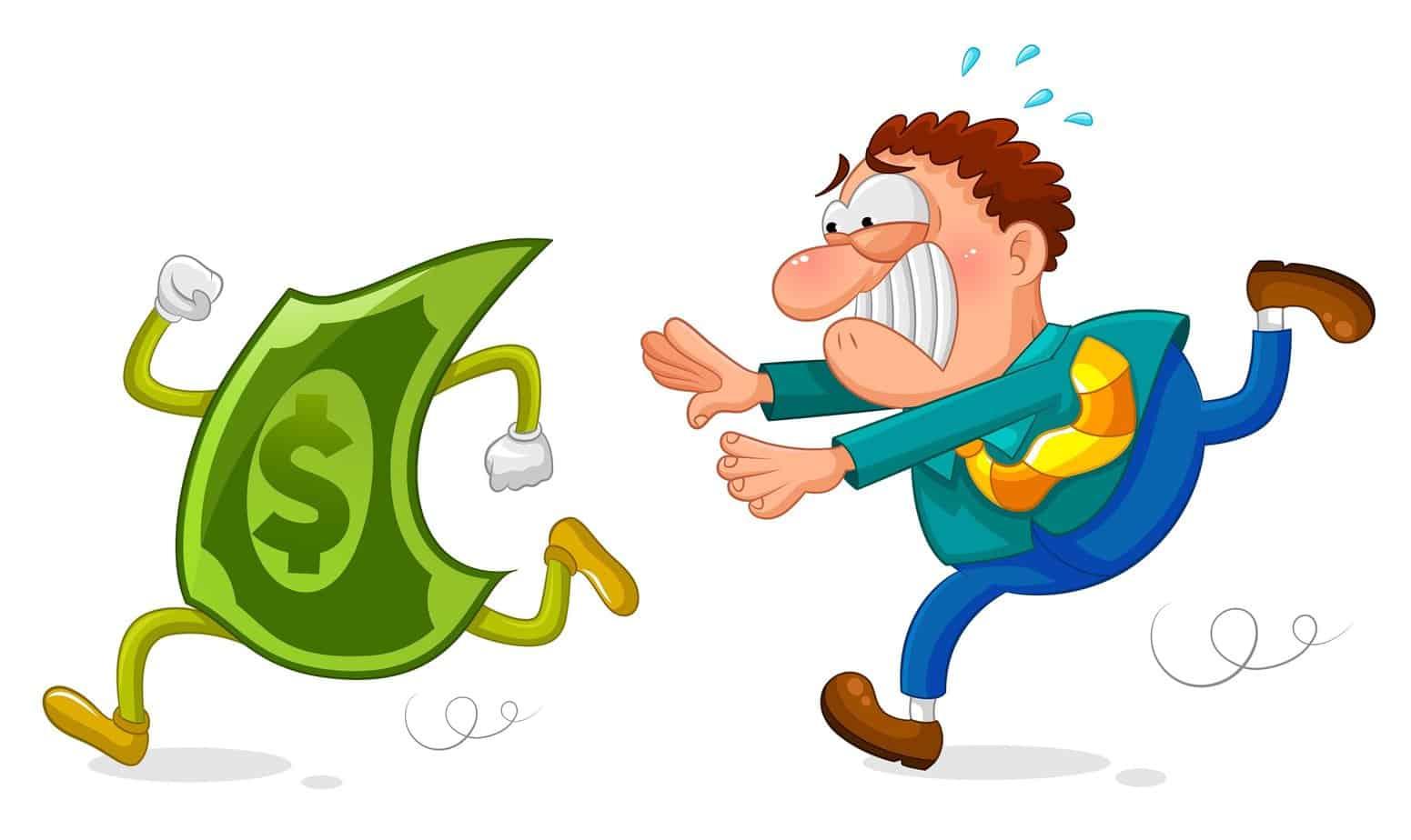 férfi fut a pénze után