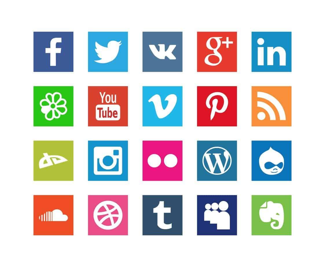social csatornák ikonjai