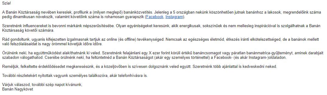 sablon levél