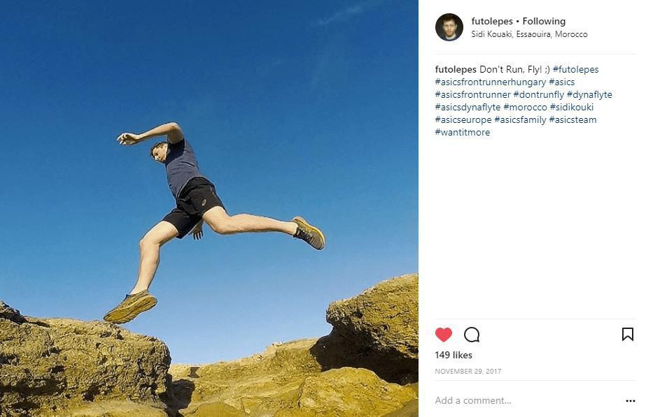 Futólépés instagram