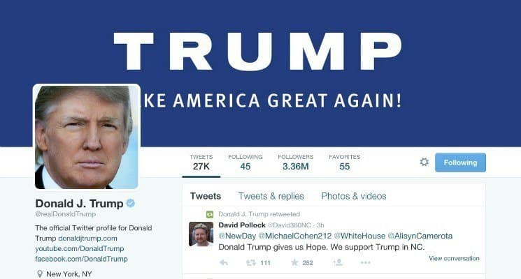 Donald Trum twitter oldala